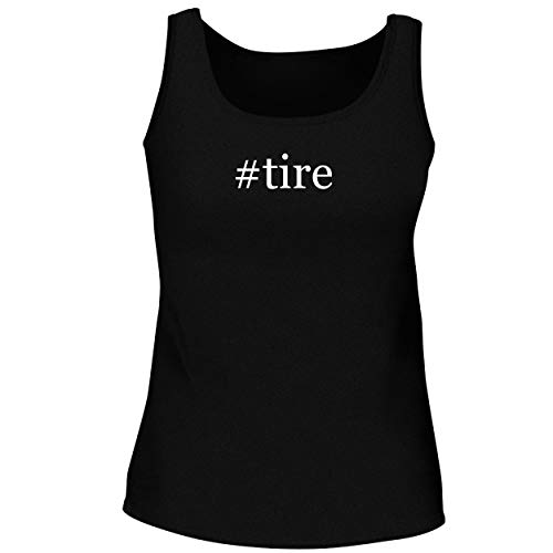 BH Cool Designs #tire - Cute Women's Graphic Tank Top, Black, XX-Large