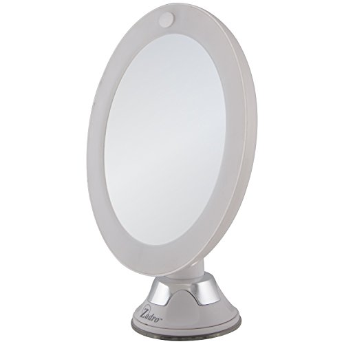 Zadro 10X Magnification Next Generation LED Lighted Z'swivel Power Suction Cup Mirror, White