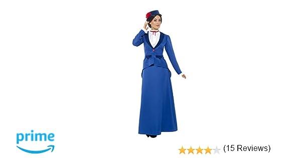 Smiffys Smiffys-46753S Disfraz de niñera Victoriana, con Chaqueta ...