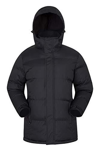 Mountain Warehouse Winterjacke für Herren - Wasserabweisende, warme Regenjacke, verstellbare Kapuze, Saum und Bündchen - ideal für Winter, Reisen und Alltag