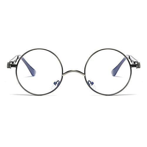 vintage Steampunk C14 espejo para redondo gafas metal de hombres gafas gótico de retro Juleya UV400 sol mujeres aOn5wAgxq