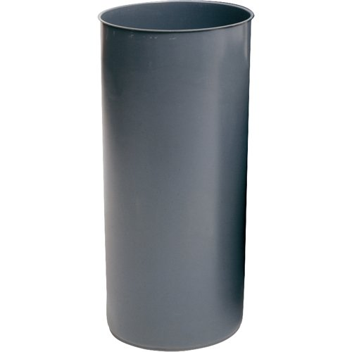 Rubbermaid FG355200 Gray 22 Gallon LLDPE Rigid Liner with Rim for Indoor and Smoking Management Container from Rubbermaid Commercial Products