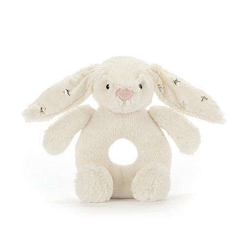 - Jellycat Bashful Twinkle Bunny Plush Baby Ring Rattle