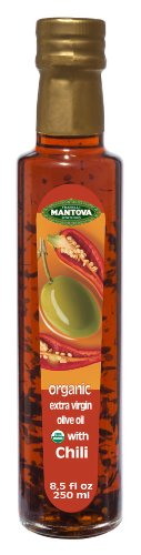 Organic Olive Lemon Oil - Mantova Organic Chili Flavored Extra Virgin Olive Oil, 8.5 Ounce