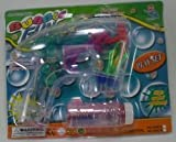 Battery Operated Novelty Light-up LED Transparent Bubble Gun (Colors May Vary)