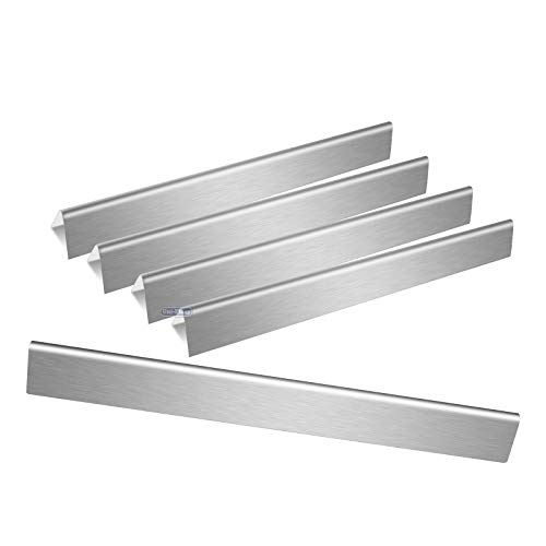Uniflasy 22.5 Inches Stainless Steel Flavor Bars for Weber Spirit 300 Series, Genesis Gold B/C, Silver B/C, Platinum B/C, Spirit 700, Weber 900, 5-Pack Replacement for Weber 7536, 7537 ()