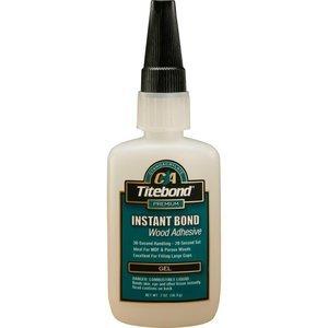 Rockler Titebond Instant Bond Wood Adhesive Gel, 2 oz Bottle