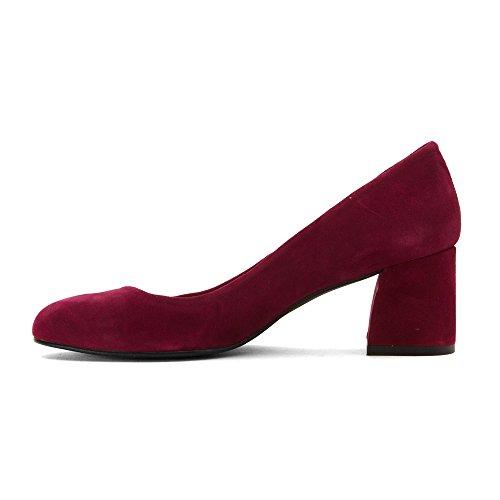 Zapatos De Suela Francesa Para Mujer Trance Pumps Wine Suede