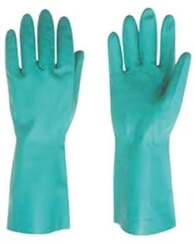 Rojo de dirigir 503 práctico Clean uso General guantes de nitrilo, color verde (Juego