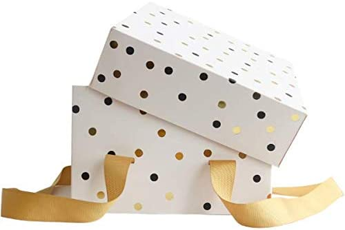 Cake & Handle - Caja para tartas con asa, diseño de lunares, caja para tartas, 3 unidades, plegable (cajas de 12 x 12 x 6): Amazon.es: Hogar