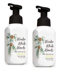 Bath and Body Works 2 Winter White Woods Gentle Foaming Hand Soap. 8 Oz
