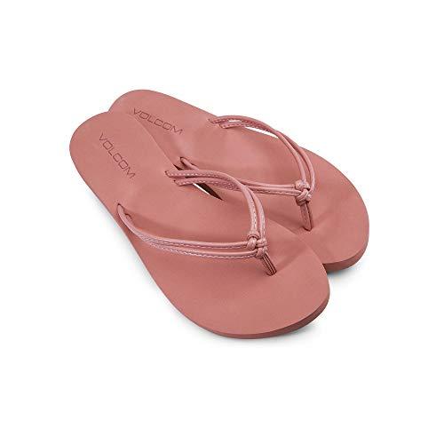 Volcom Women's Forever Solid Strappy Sandal, Terra Cotta, 7 B US