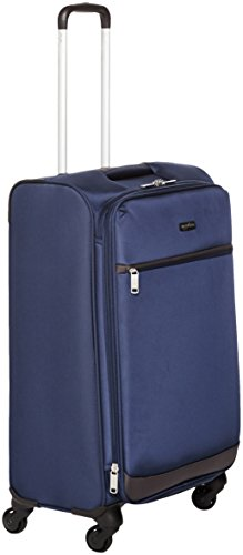 Upright Navy Large Rolling Luggage - AmazonBasics Softside Spinner Luggage - 25-inch, Navy Blue