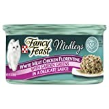 fc0e94559 6 Cans of Purina Fancy Feast Medleys White Meat Chicken Florentine with  Garden Greens in a