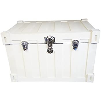 Bolt trunks rustic white extra roomy footlocker