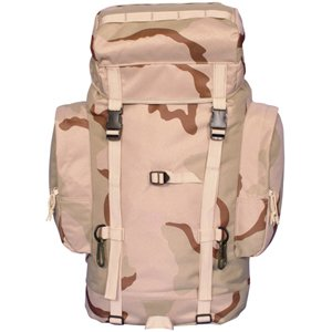 Tri-Color Desert Camouflage Rio Grande Travel Pack 25 Liter – 21 x 12 x 6 Inches, Backpakers Backpack Bag, Outdoor Stuffs