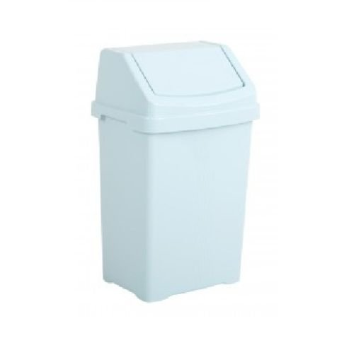 Duck Egg Blue Plastic Swing Bin Recycling Refuse Garbage Dustbin Recycle Basket With Lid Food Storage Container - Perfect for Dry Dog Food, Rice, Pasta, etc (8L Small) Funky Gadgets