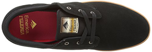 Emerica The Figueroa, Scarpe da Skateboard da Uomo Black/Gum
