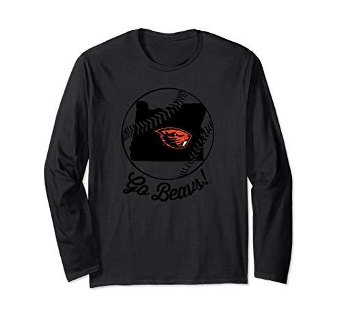 Oregon State Beavers State Map Inside Baseball T-Shirt
