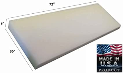 "30/"" Wide x 72/"" Long Medium Density Foam Upholstery 5/"" Thick"