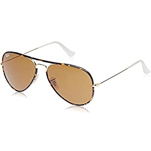 Ray-Ban RB3025JM Aviator Full Color Sunglasses Arista / Brown 58mm