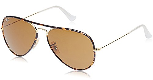 Ray-Ban Men's RB3025JM Aviator Full Color Sunglasses Arista / Brown - Aviator Ban Colors Ray