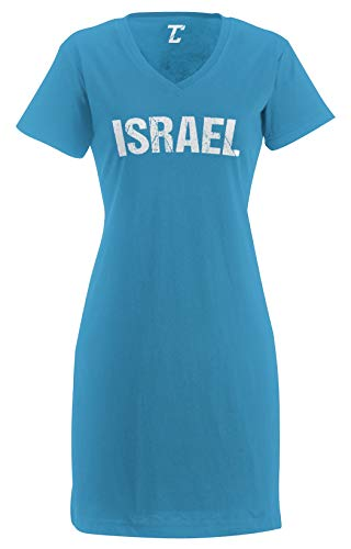 Tcombo Israel - Soccer Futbol Sports Women's Nightshirt (Light Blue, Large/X-Large)