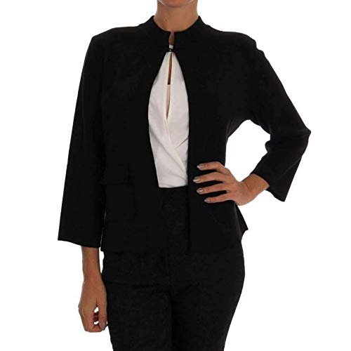 Dolce & Gabbana Black Wool Sweater Cape Jacket