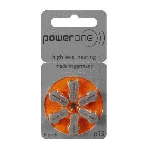 Power One Size 13 Hearing Aid Batteries (120) (p13-120) (Best Hearing Aid Batteries 13)