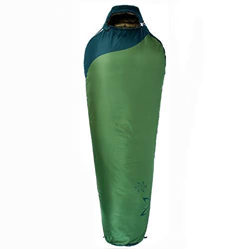 Saco de dormir - rombo 75D, pongee 230T, saco de dormir de momia de algodón ligero engrosado al aire libre para cuatro estaciones al aire libre, adecuado para: almuerzo interior, actividades al aire l