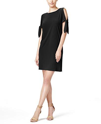 bar III Womens Tie Sleeves Mini Cocktail Dress Black S from Bar III