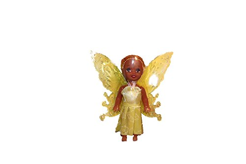 3 Beautiful Black African Fairy Doll Poupee Wings. Changeable Dress Clothes Cute Hair Great Birthday Holiday Gift 2018. Kids Toddler Baby Play Toy -Colors Varies