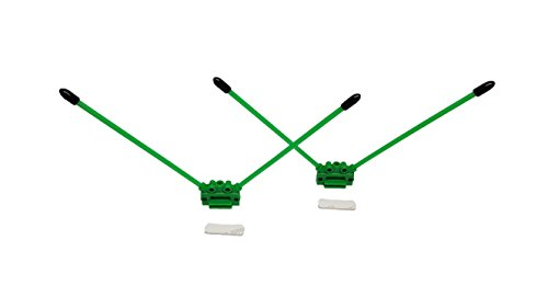 45 and 90 Degree Rx Antenna Tube Mounts for Rc Cars, Multicopters, Drones. Green