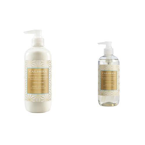Caldrea Hand Care Set, Gilded Balsam Birch, 2 ct: Hand Soap (10.8 fl oz), Hand Lotion (10.8 fl oz) ()