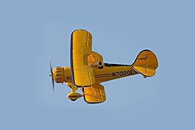"Rochobby Waco RC Airplane 4ch 1030mm (40.6"") Wingspan Yellow Biplane PNP (No Radio, Battery, Charger)"