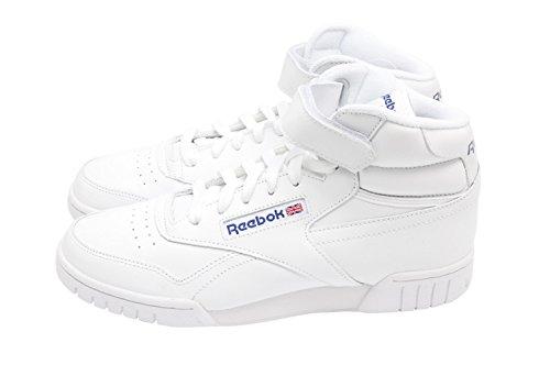 Rebbok Exofit High Retro Sneaker All White-Zapatillas de deporte para Botines con velcro, color blanco blanco