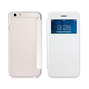 GDW caso del tirón del cuero de imitación con la contraportada& ventana de la pantalla para el iphone 6 (colores surtidos) , Rose