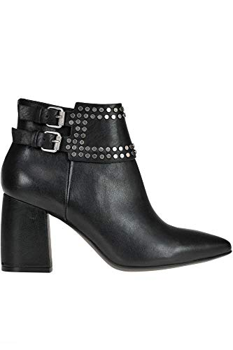 Janet Ankle Boots & - JANET&JANET Women's Mcglcas000006206i Black Leather Ankle Boots