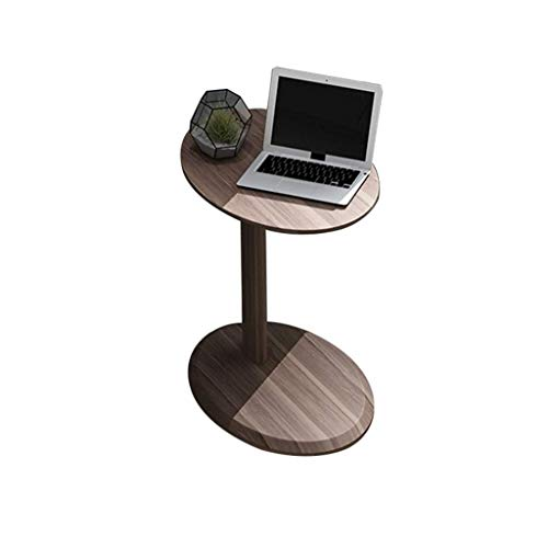 - Yxsd Tables Rustic Side Table - Modern Industrial Design Wooden Effect End Table, Nightstand, Bedside Or Telephone Table,Black Walnut Color, 48 38 59cm