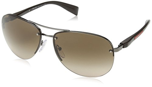 Prada Sport Linea Rossa PS56MS Mens Sunglasses One Size Gun - Models Prada Sunglasses