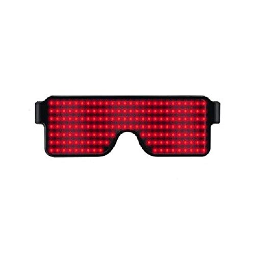 KOBWA Light Up Eyeglasses Flashing Shutter Neon Glowing Glasses Multicolor LED Luminous Glasses with 8 Modes for Party Christmas Birthday -