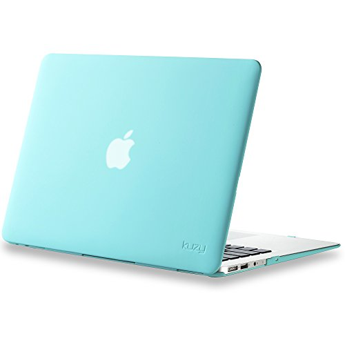 Kuzy---AIR-13-inch-Teal-Turquoise-Hot-BLUE-Rubberized-Hard-Case-Satin-for-NEW-Apple-MacBook-Air-133-A1369-and-A1466-Aluminum-Unibody-SeeThru-Cover