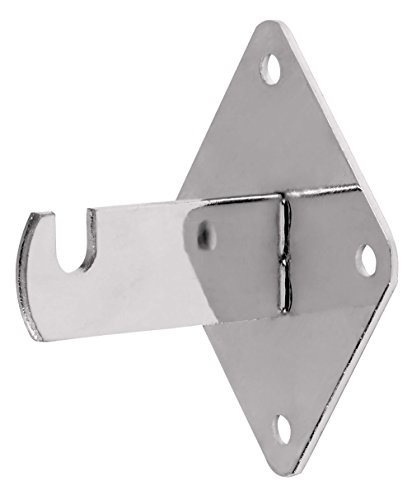 Grid Wall Mount Brackets for Wire Gird and Slatgrid Panels - Chrome - 15 Pack