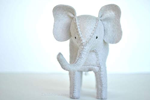 DIY Stuffed Elephant Kit - Make Your own Felt Animals Craft Sewing Kit from DelilahIris
