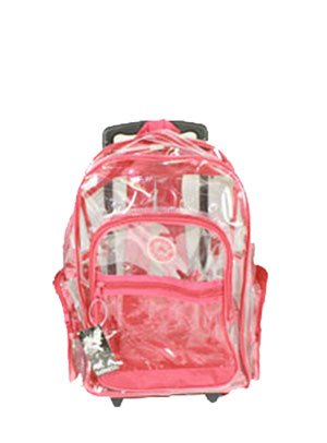 Amazon.com: New Clear Rolling Backpack on Wheels 18'' Many Colors ...