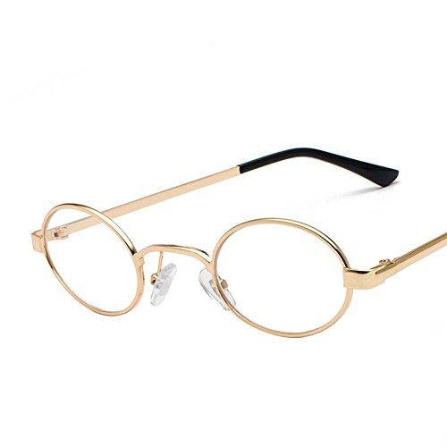 Aoligei Lunettes Retro ultra petit cadre ovale lunettes de soleil hommes et femmes de personnalité en général métal Ocean Film lunettes de soleil de couleur fD9kLc2