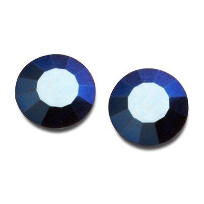 : Crystal Metallic Blue 1440pcs Vintage Swarovski Rhinestone Flatback #2028 SS12, SW-2028FB