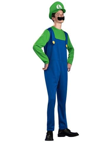 Super Mario Teen Luigi Costume, Green, -