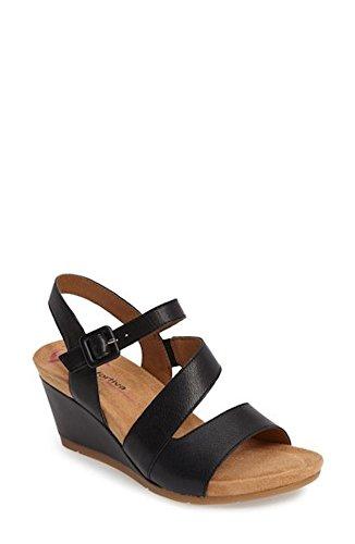 Comfortiva Violett Kil Sandal, Storlek 9,5 W - Svart