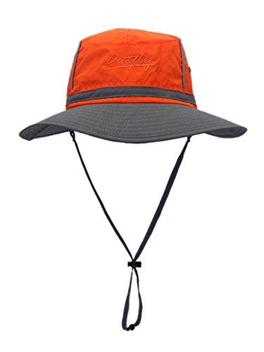 廃棄する放置光サファリハット 日よけ帽 つば広 帽子 折り畳み 男女兼用 通気性 ハット アウトドア 登山 釣り スポーツ サイズ調整可能